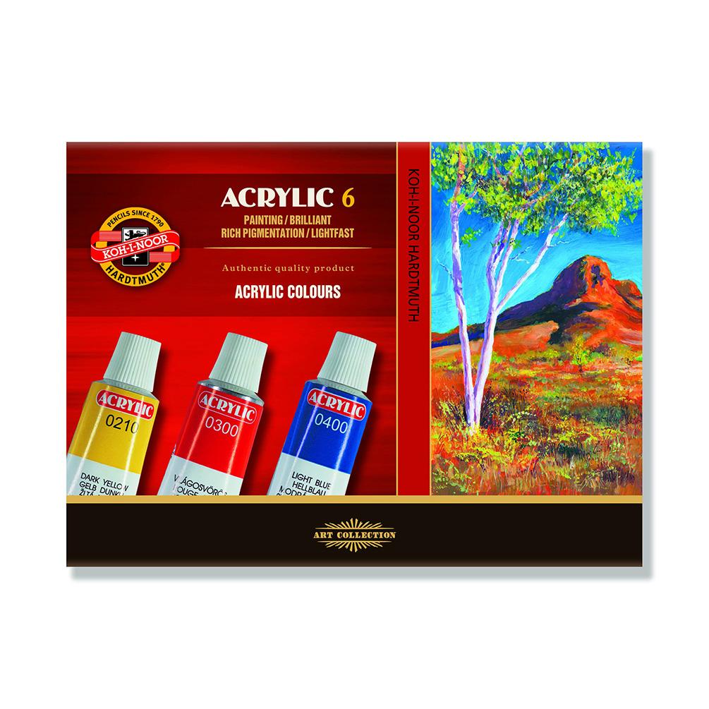 Akrylové farby Koh-i-noor, 6ks