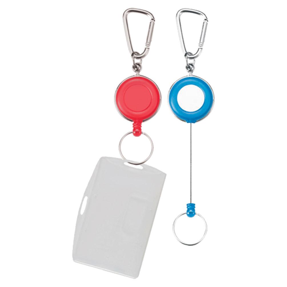 Navíjacia kľúčenka + púzdro na 2 karty