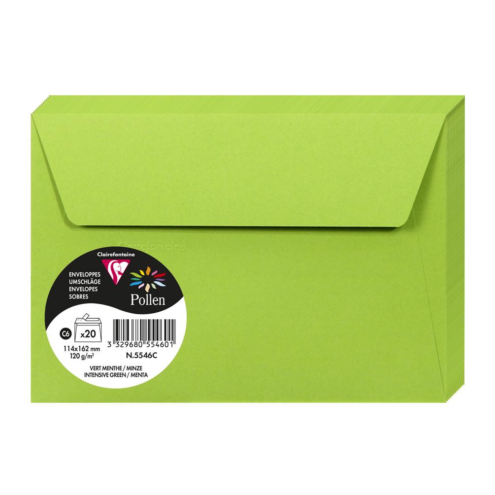 Obálka C6 20ks, zelená