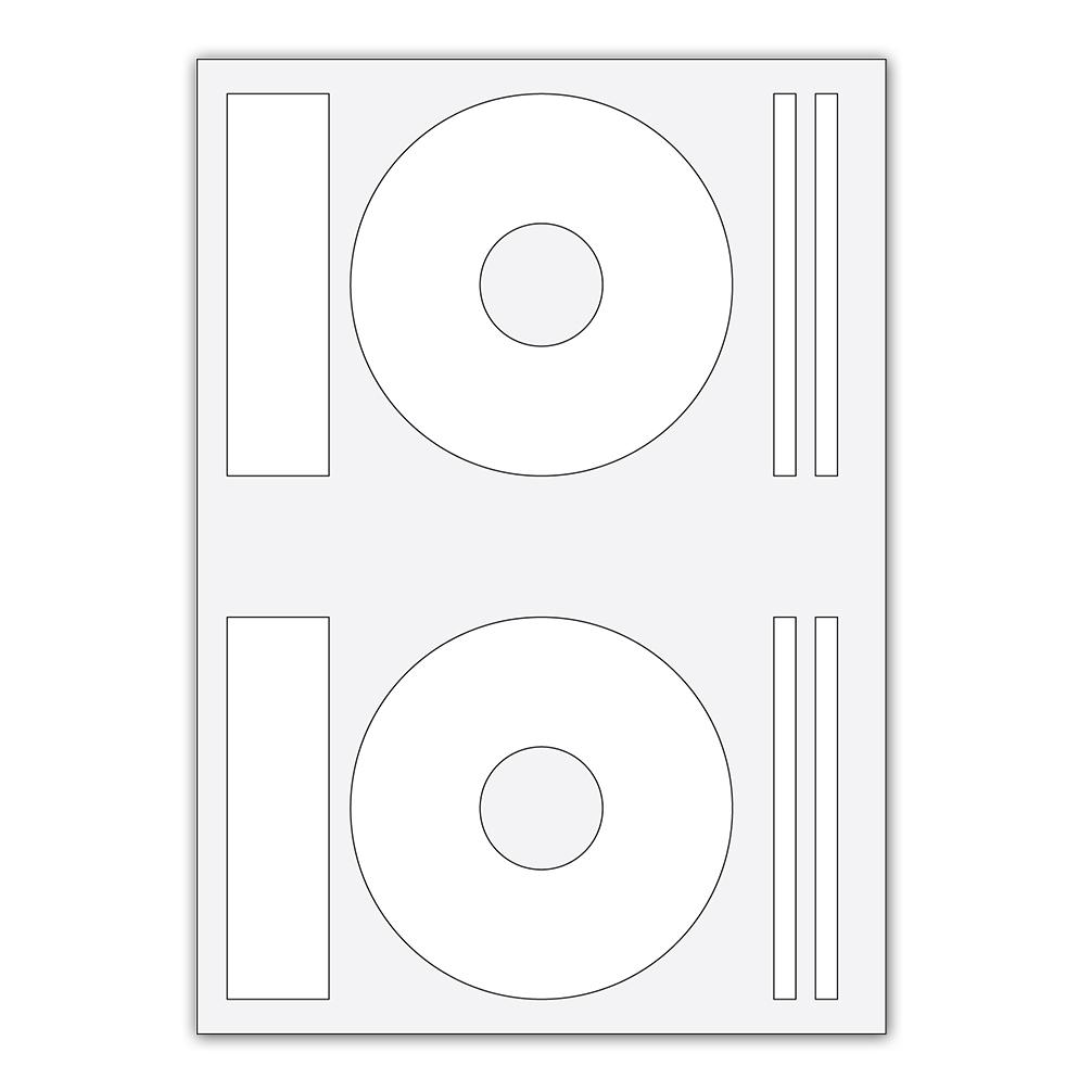 Etiketa samolepiaca A4 na CD 2ks