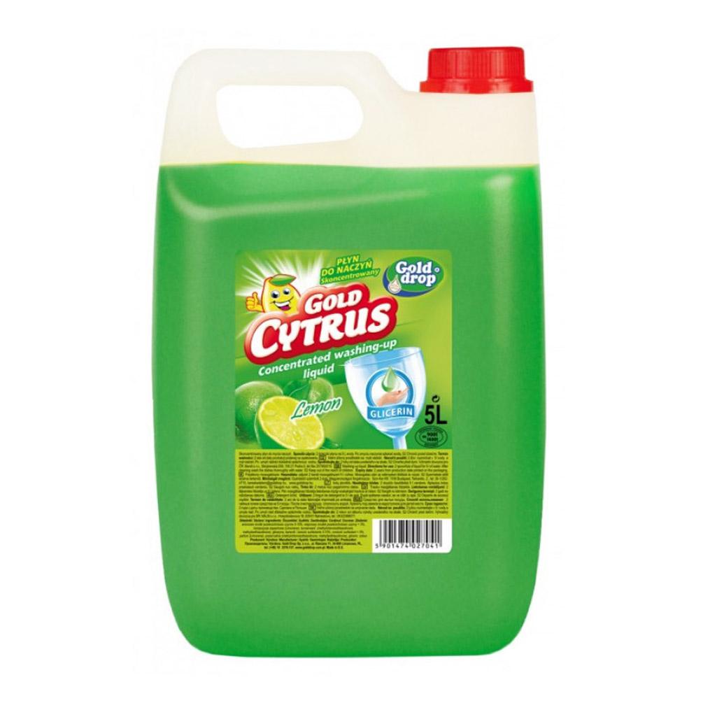Prostriedok na umývanie riadu Gold Citrus 5l, citrón