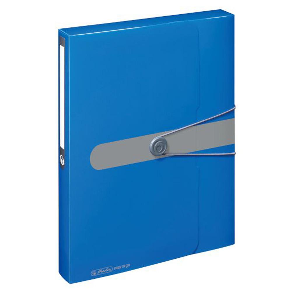 Box na dokumenty A4 4cm, modrý