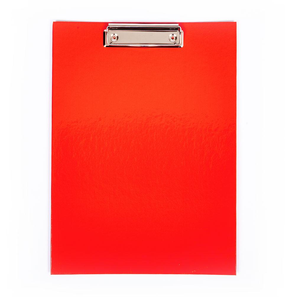 Doska s klipom A4 laminovaná, červená