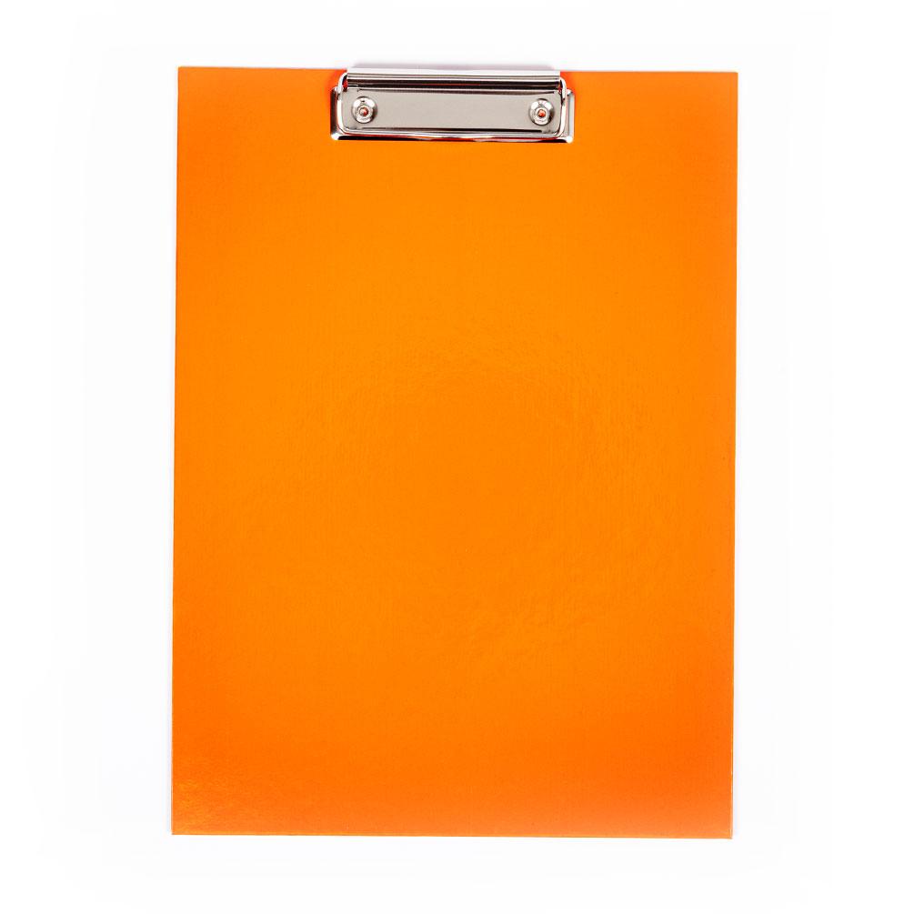 Doska s klipom A4 laminovaná, oranžová