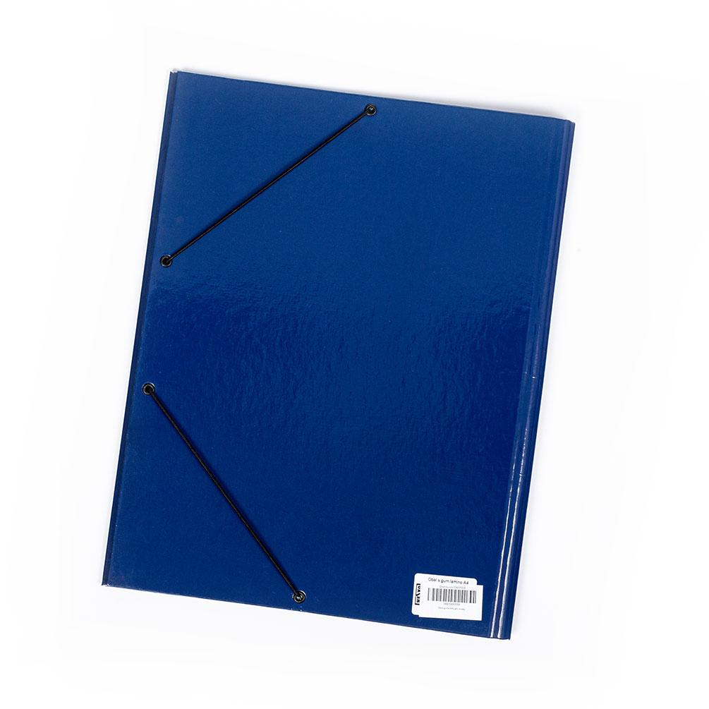 Dosky A4 s gumičkou laminované, modré