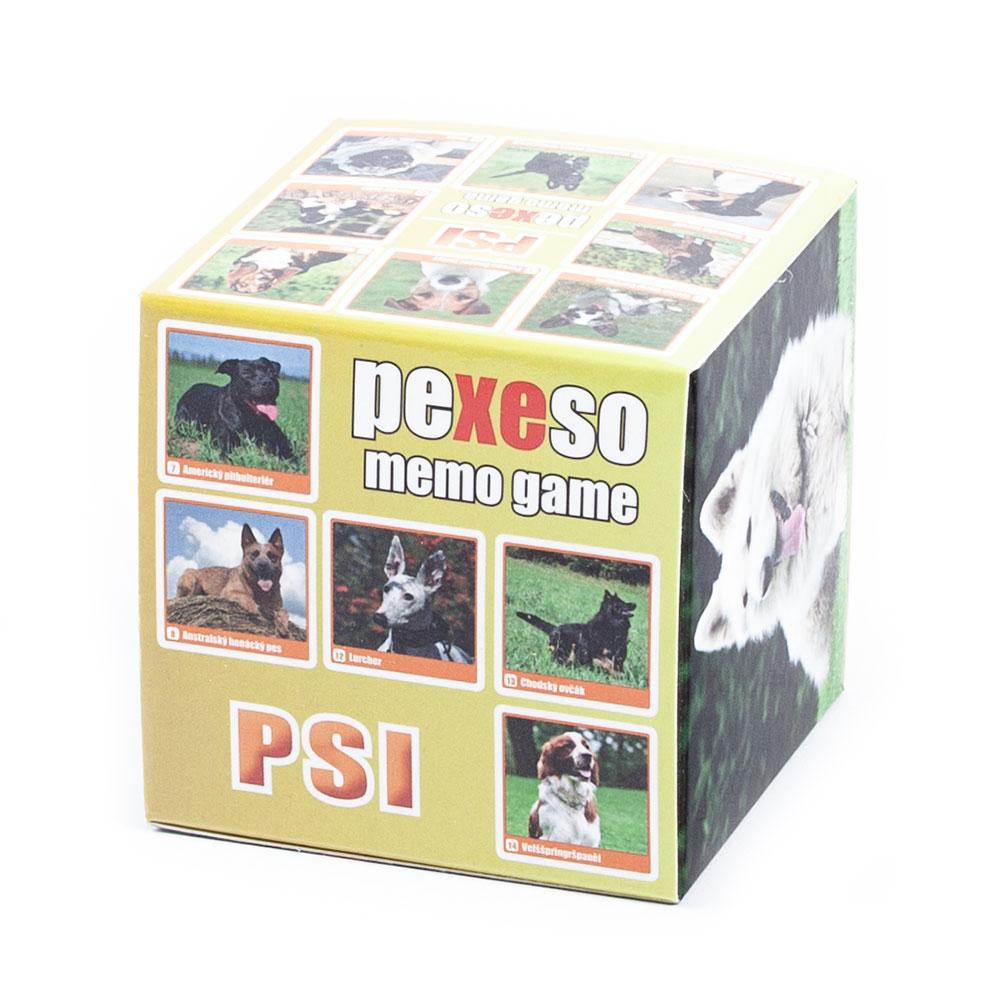 Pexeso v krabičke Psi