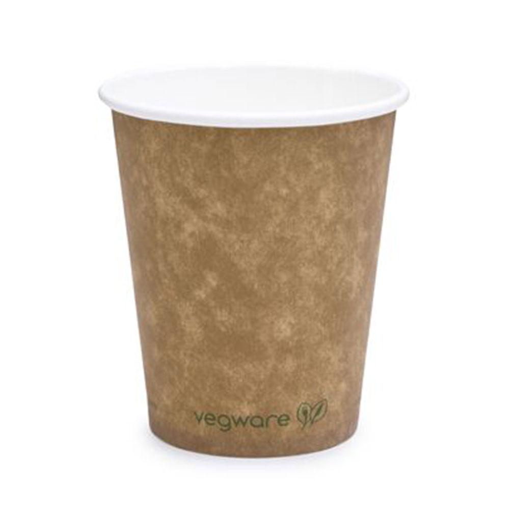 BIO pohár na kávu 180ml 6ks ekologický, hnedý
