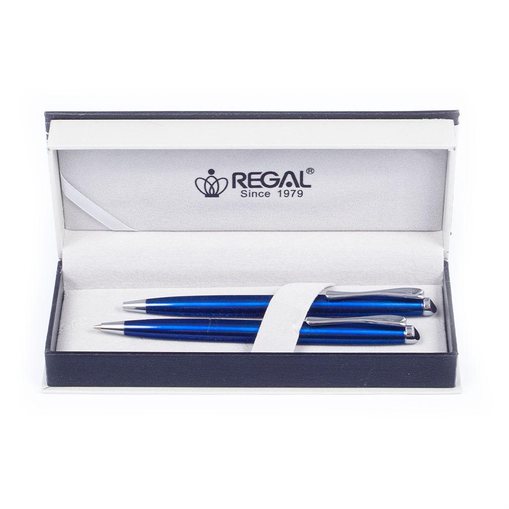 Sada pero guľôčkové + pentelka Regal Aranche, modrá