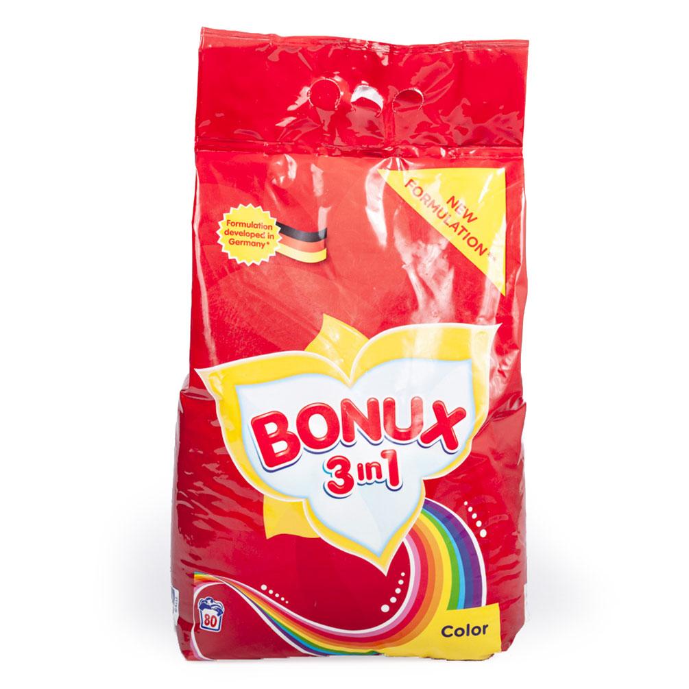 Prací prášok Bonux 3v1 na farebné prádlo, 80 dávok