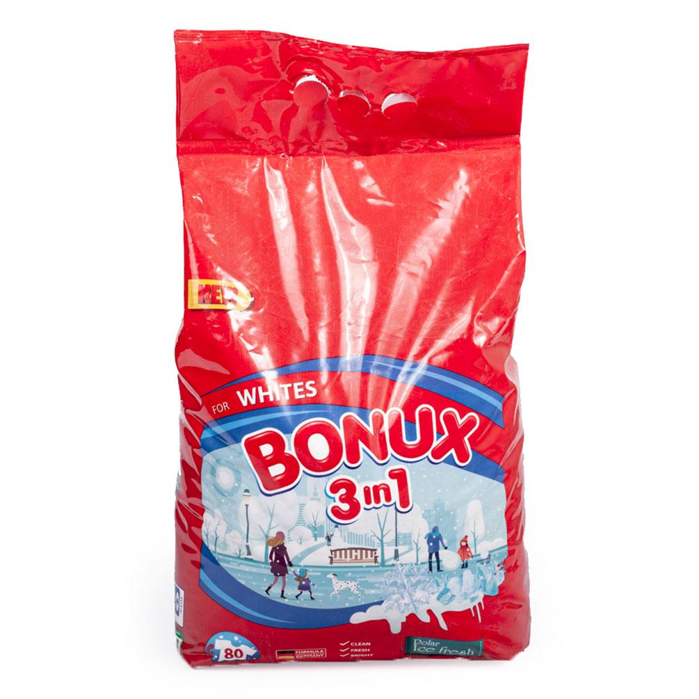 Prací prášok Bonux 3v1 na biele prádlo, 80 dávok