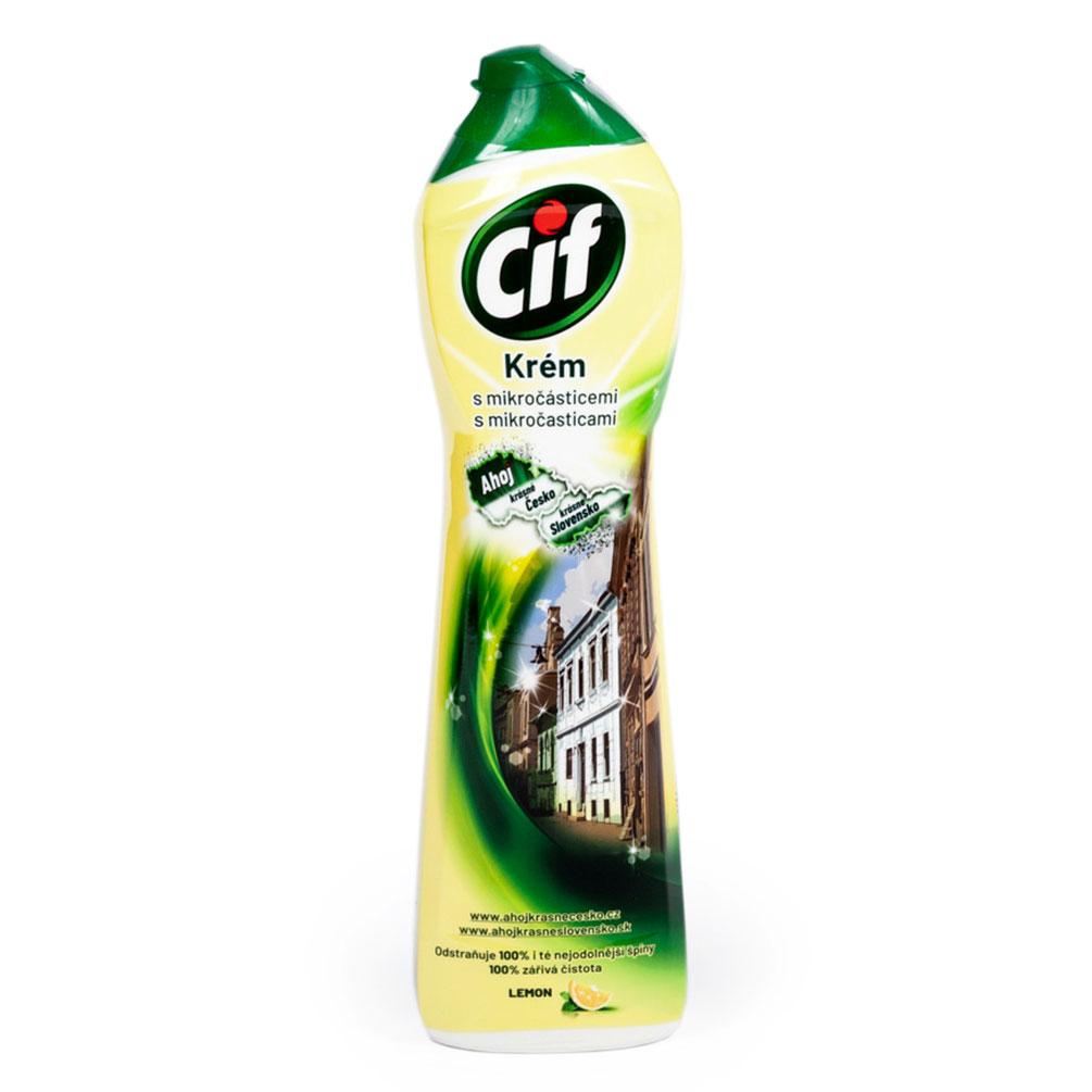 Cif - čistiaci krém s mikročasticami 500ml, citrón