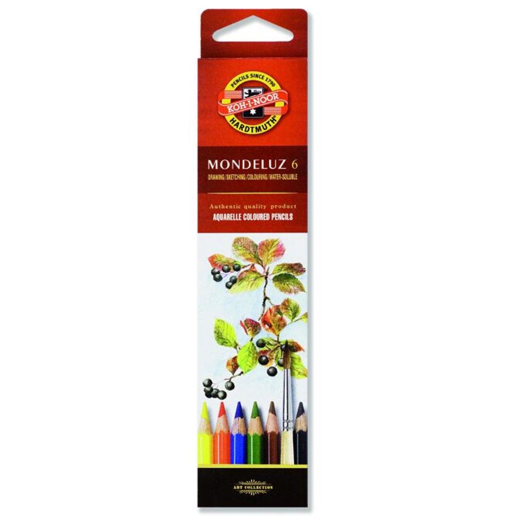 Akvarelové pastelky Mondeluz 6ks
