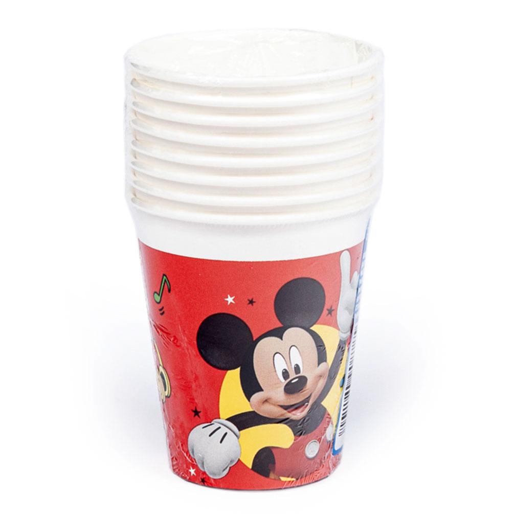 Poháre Mickey Mouse 0,2l 8ks, papierové