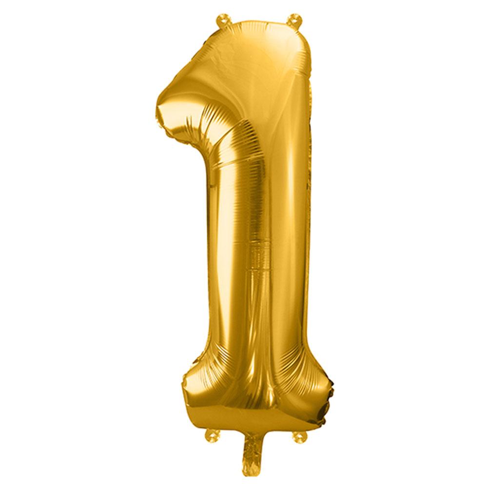 Fóliový balón číslo 1, zlatý