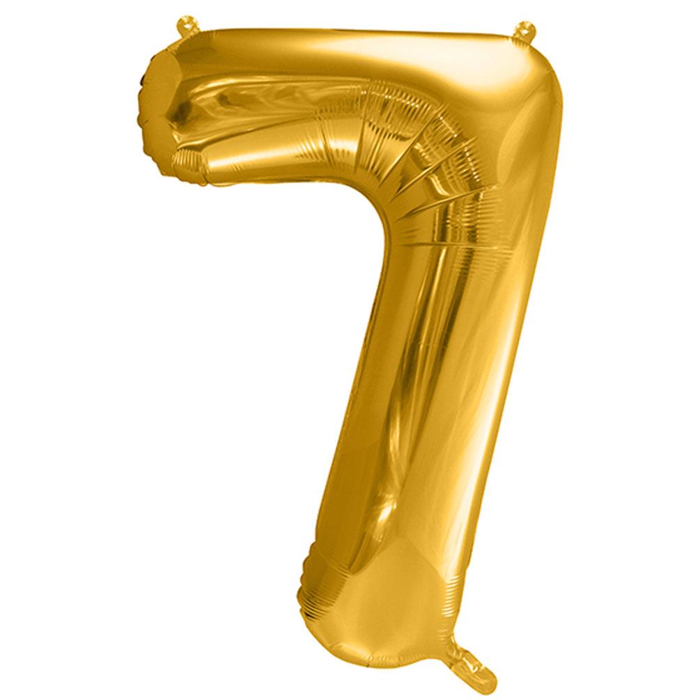 Fóliový balón číslo 7, zlatý