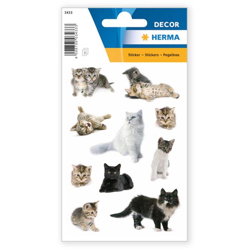 Samolepky Mačky, 30 ks