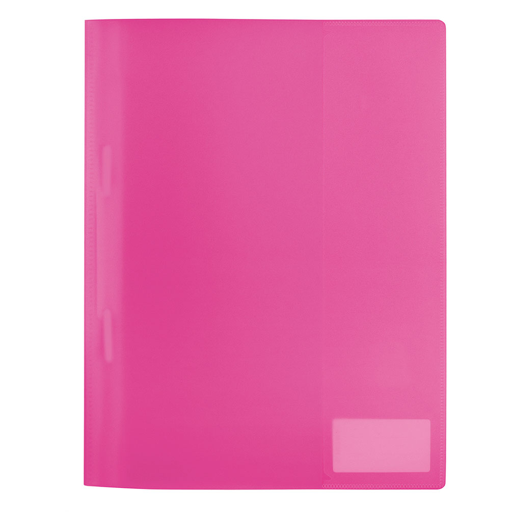 Rýchloviazač PVC A4 s menovkou, ružový