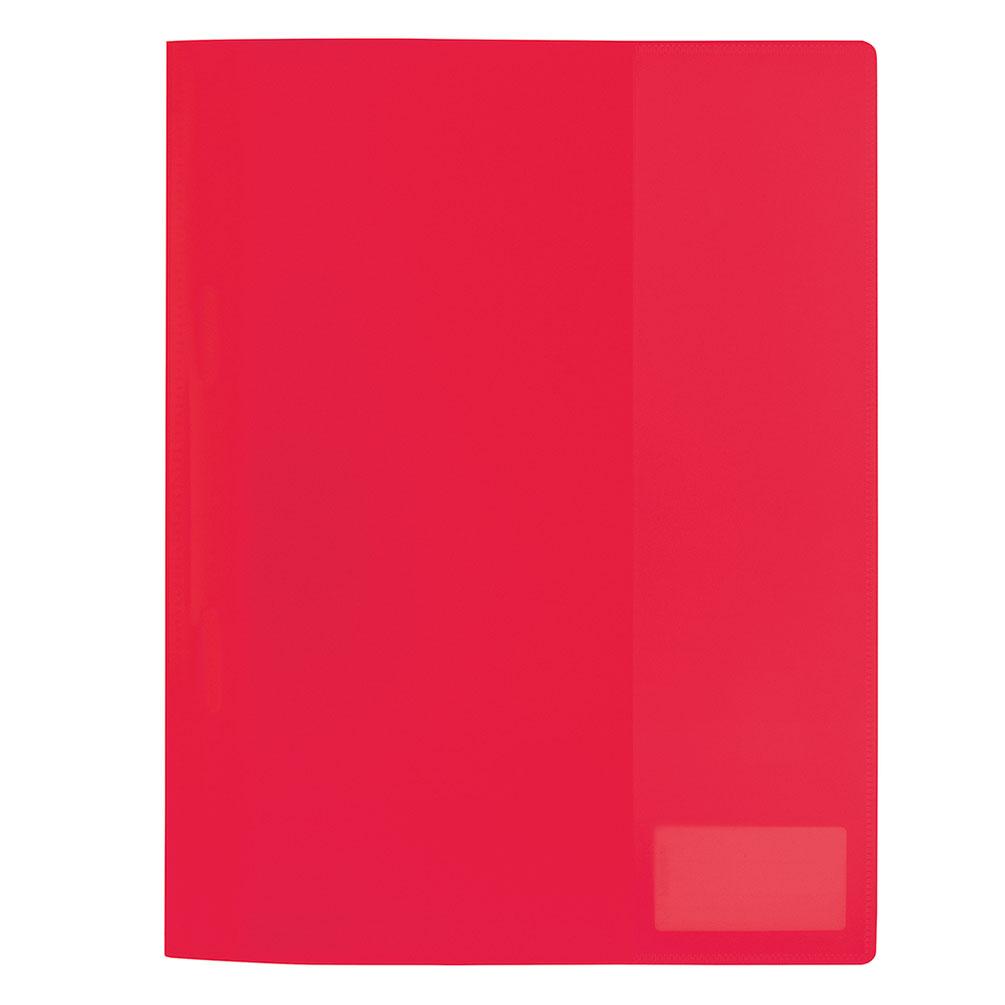 Rýchloviazač PVC A4 s menovkou, červený