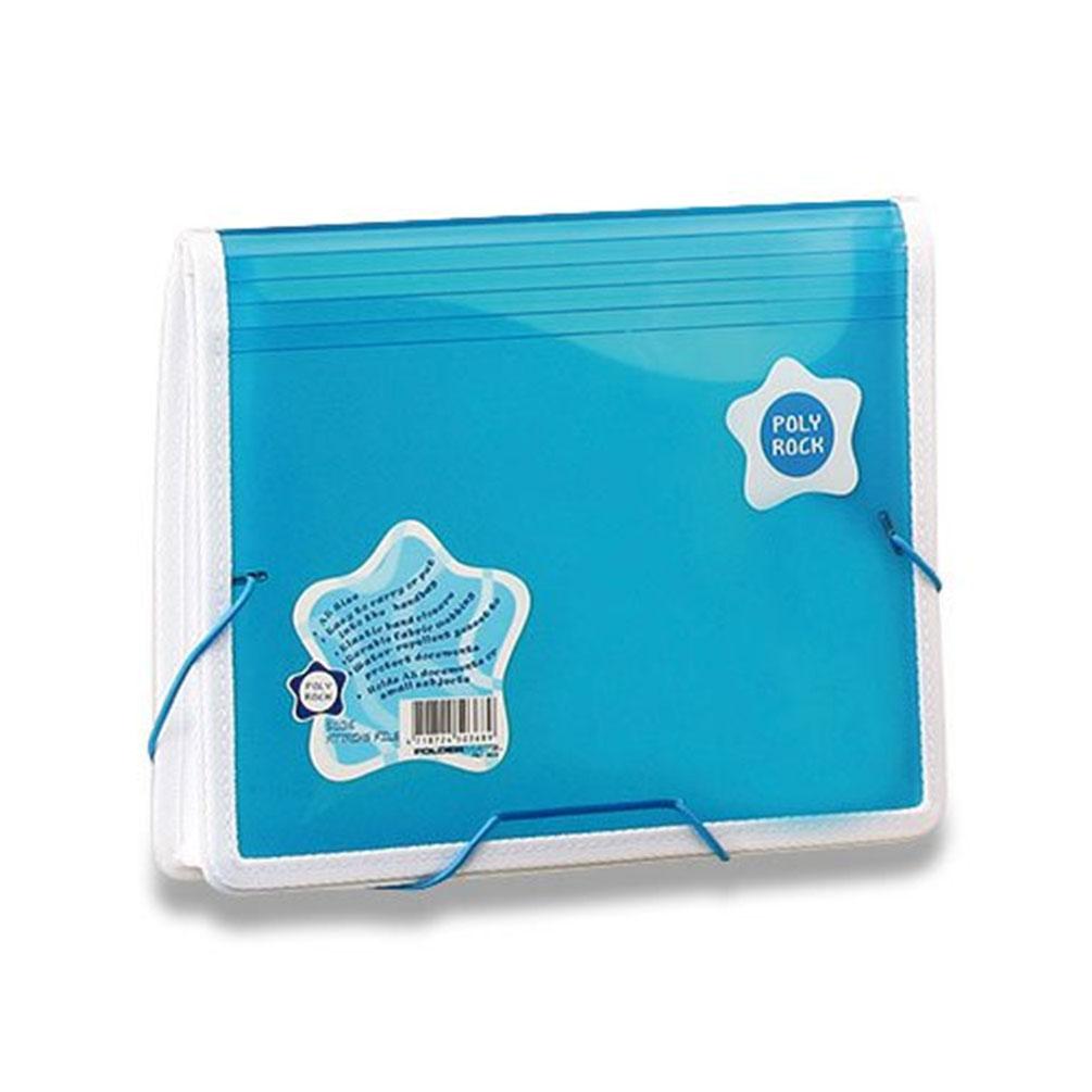Taška na dokumenty A5 s gumou Poly Rock modrá