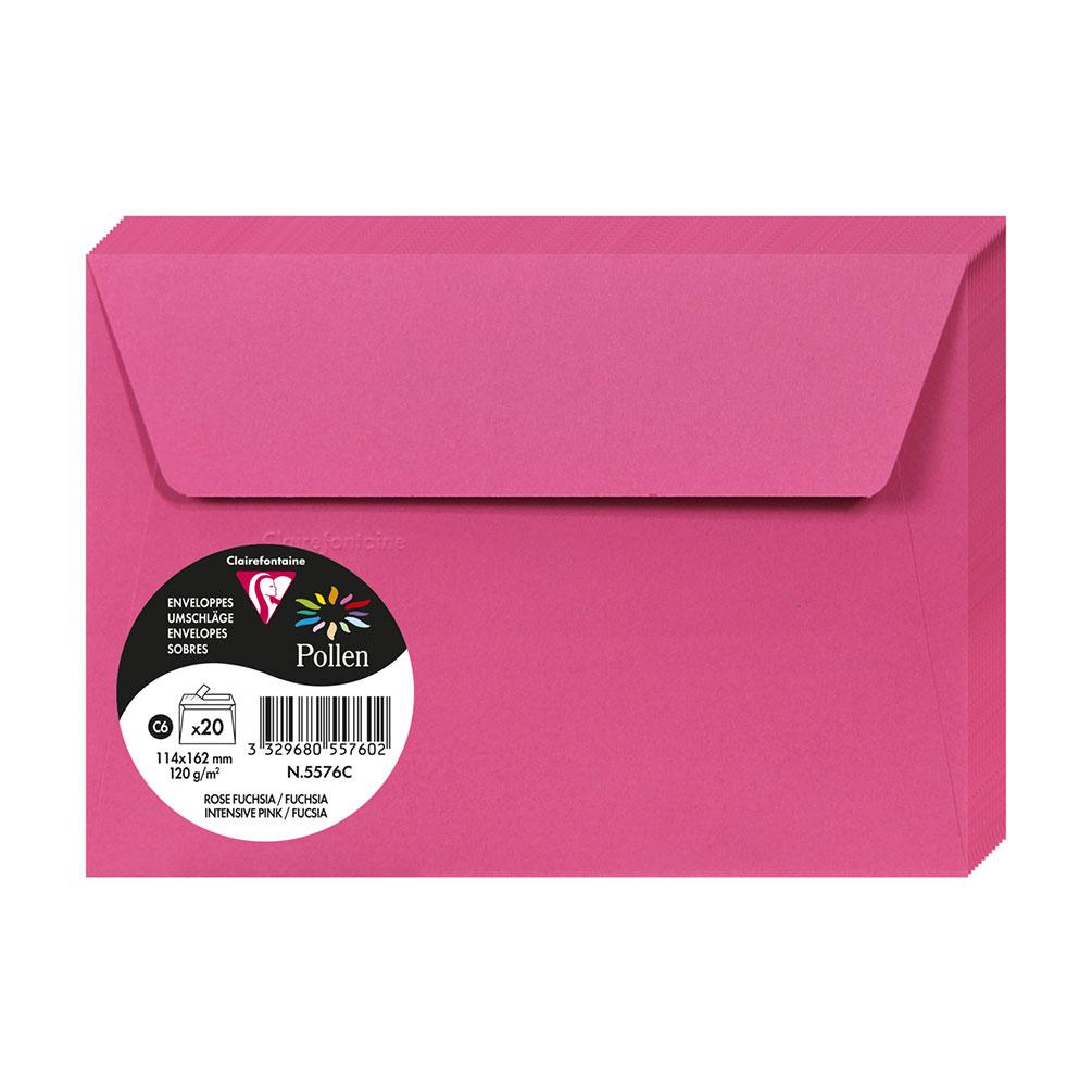 Obálka C6 20ks, ružová