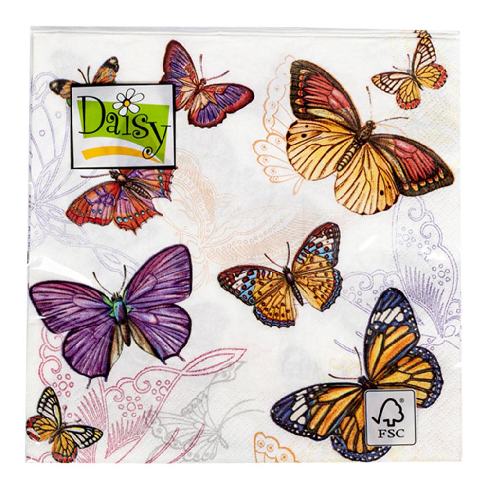 Servítky Motýle 20ks