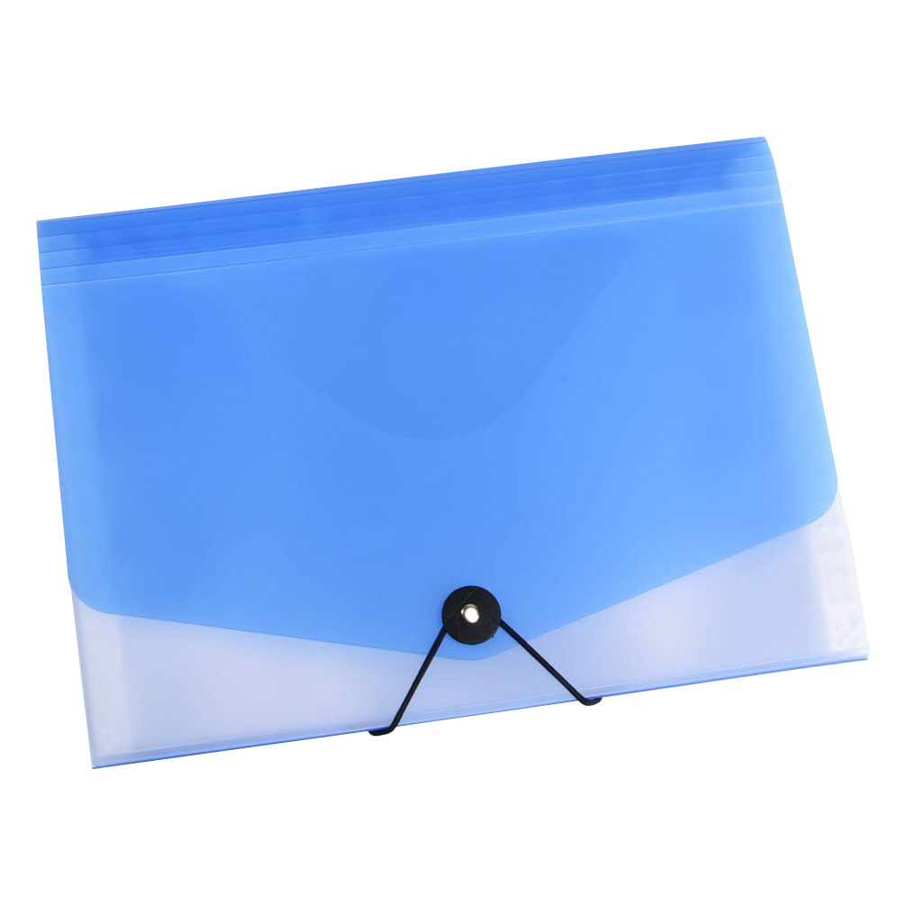 Taška na dokumenty A4 s gumou Opaline modrá