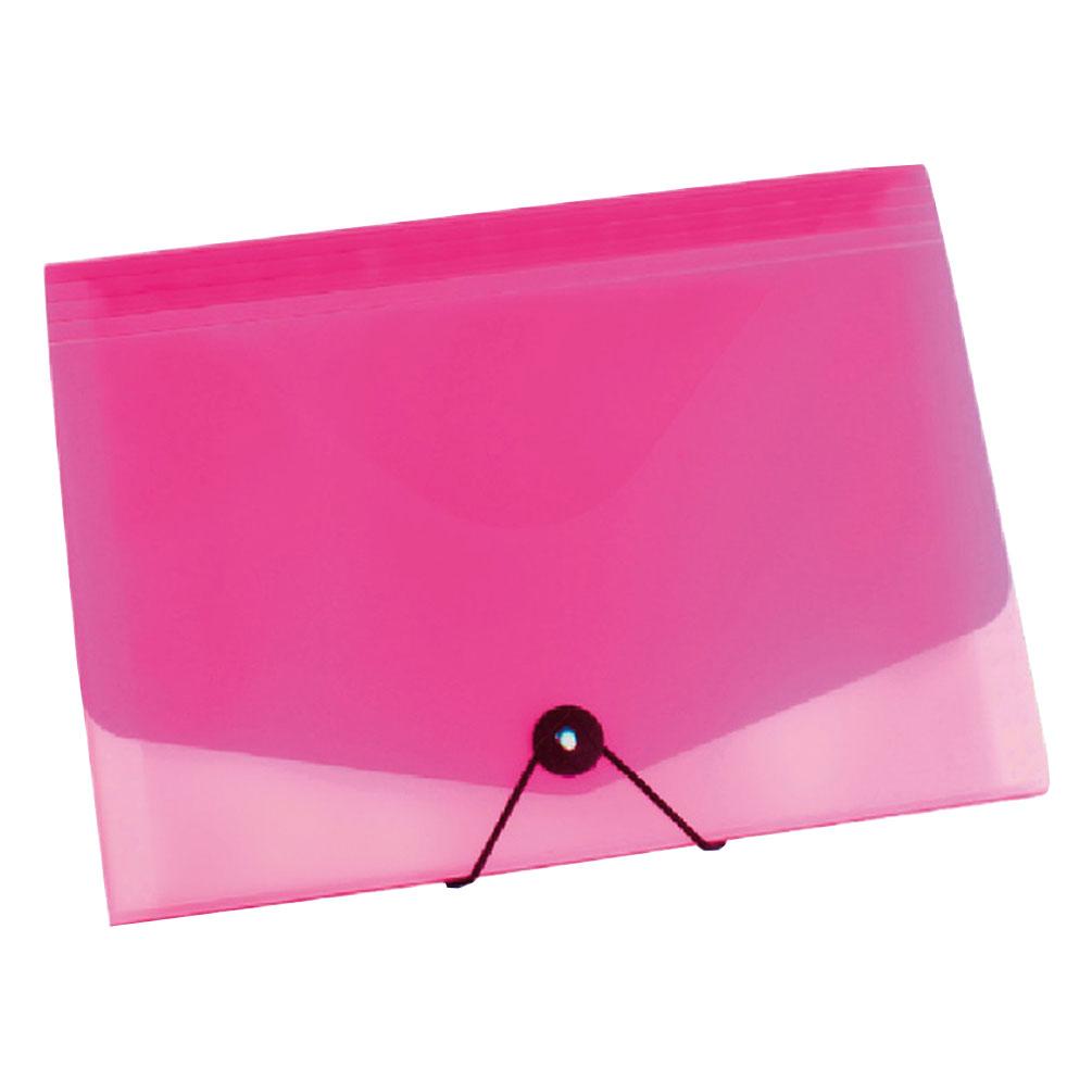 Taška na dokumenty A4 s gumou Opaline ružová
