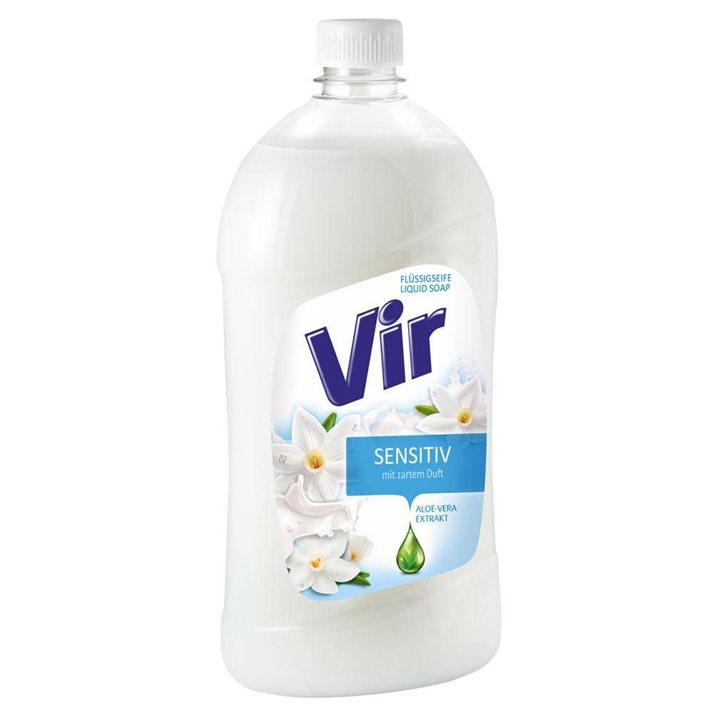 Tekuté mydlo Vir 1l sensitiv, náhradná náplň